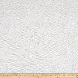 Lace Abstract White Fabric
