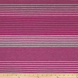 Rayon Jersey Knit Stripe Purple/Grey