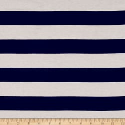 Jersey Knit Large Stripe Navy/White