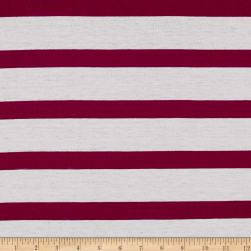 Jersey Knit Large Stripe White/Purple