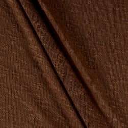 Stretch Sweater Knit Solid Mocha Fabric