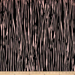 Rayon Crepe Zebra Black/Dusty Rose