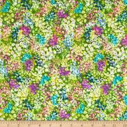 Wildwood Way Digiprint Enchanted Meadow Moss Fabric
