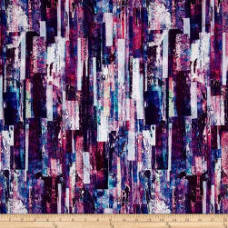 Wildwood Way Digiprint Color Cascade Delphinium Fabric