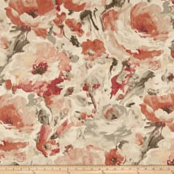 Richloom Viroqua Coral Canvas Fabric