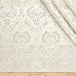 Damask Embossed Velvet Ivory Fabric