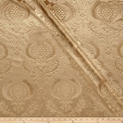 Damask Embossed Velvet Camel Fabric