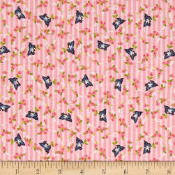 Riley Blake Kewpie Love Bird Pink Fabric