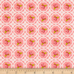 Riley Blake Hello Gorgeous Rose Grid Pink Fabric