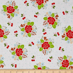 Riley Blake Sew Cherry 2 Main White Fabric
