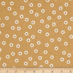 Riley Blake Sew Cherry 2 Daisy Nutmeg Fabric