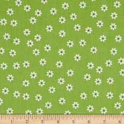 Riley Blake Sew Cherry 2 Daisy Green Fabric