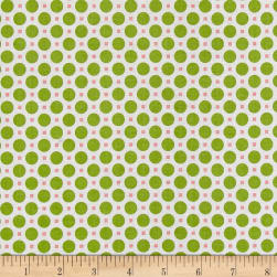 Riley Blake Sew Cherry 2 Circle Green Fabric