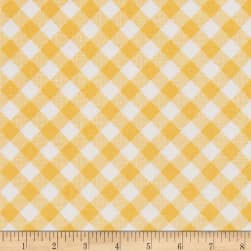 Riley Blake Sew Cherry 2 Gingham Yellow Fabric
