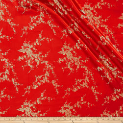 Chinese Brocade Floral Red/Gold