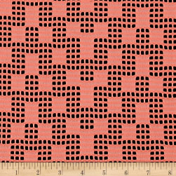 Telio Pixel Lace Double Knit Coral Fabric