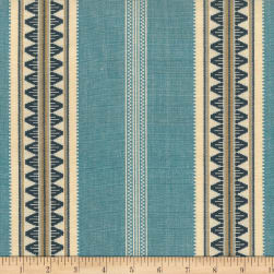 Laura & Kiran Southwest Stripe Catalan Blues Fabric