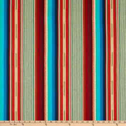 Laura & Kiran Southwest Stripes El Paso Turq/OrangeBasketweave