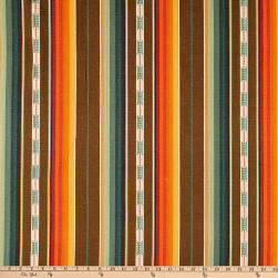 Laura & Kiran Southwest Stripes Rio Grande Brown Multi