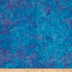 Island Batik Herringbone Dark Aqua/Purple Fabric