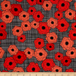 Poppies In Bloom Red Multi Poppies Red