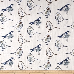 Premier Prints Bird Toile Regal Blue Fabric