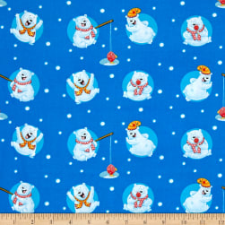 Penguin Parade Polar Bears And Dots Medium Blue