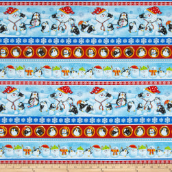 Penguin Parade Large Stripe Multi Fabric