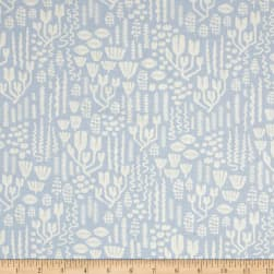 Cloud 9 Organic Underwater Scandiweeds Dusty Blue Fabric