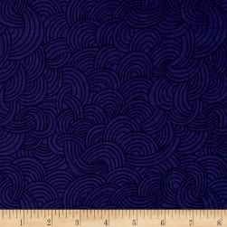 Cloud 9 Organic Underwater Tidal Nightfall Blue Fabric