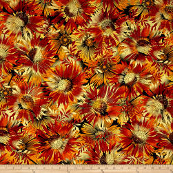 Kanvas Sun Valley Metallic Sun Dance Rust Fabric