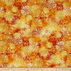 Kanvas Sun Valley Metallic Tumbleweed Gold/Rust Fabric