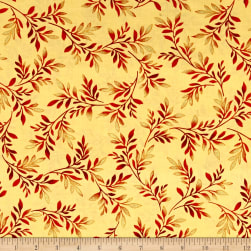Kanvas Sun Valley Metallic Valley Fern Butter/Orange Fabric