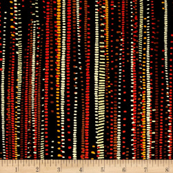Kanvas Sun Valley Metallic Corn Rows Black/Orange Fabric