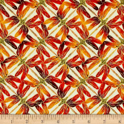 Kanvas Sun Valley Metallic Sunset Dragonfly Cream/Orange Fabric