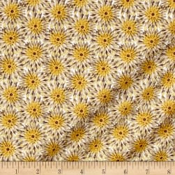 Kanvas Natural Beauty Metallic Thistle Dot Cream/Puddy Fabric