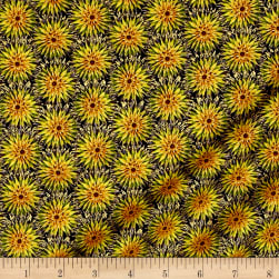 Kanvas Natural Beauty Metallic Thistle Dot Black/Moss Fabric