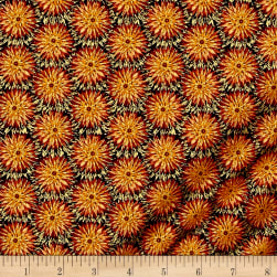 Kanvas Natural Beauty Metallic Thistle Dot Russet Fabric