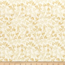 Kanvas Natural Beauty Metallic Wild Fern Cream Fabric