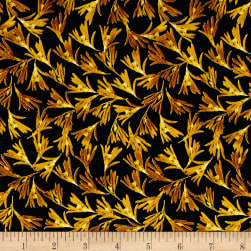Kanvas Natural Beauty Metallic Wild Fern Black/Gold Fabric
