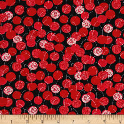 Kanvas Happy Hour Bing Cherries Red Fabric