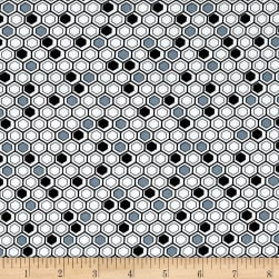 Kanvas Bumble Bumble Honeycomb Geo Black/Grey Fabric