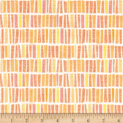 Contempo Owls And Pals Sticks Mango Fabric