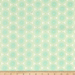 Contempo Owls And Pals Lacey Medallion Cream/Turquoise Fabric