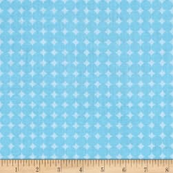 Contempo Owls And Pals Round Grid Blue Fabric