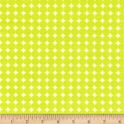 Contempo Owls And Pals Round Grid Lime Fabric