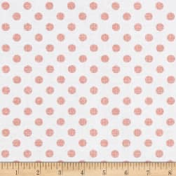 Contempo Owls And Pals Dot Weave Rose Fabric