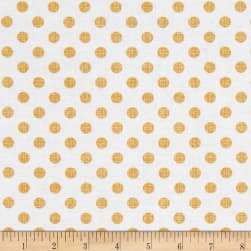 Contempo Owls And Pals Dot Weave Mango Fabric
