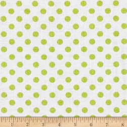 Contempo Owls And Pals Dot Weave Lime