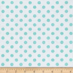 Contempo Owls And Pals Dot Weave Turquoise Fabric